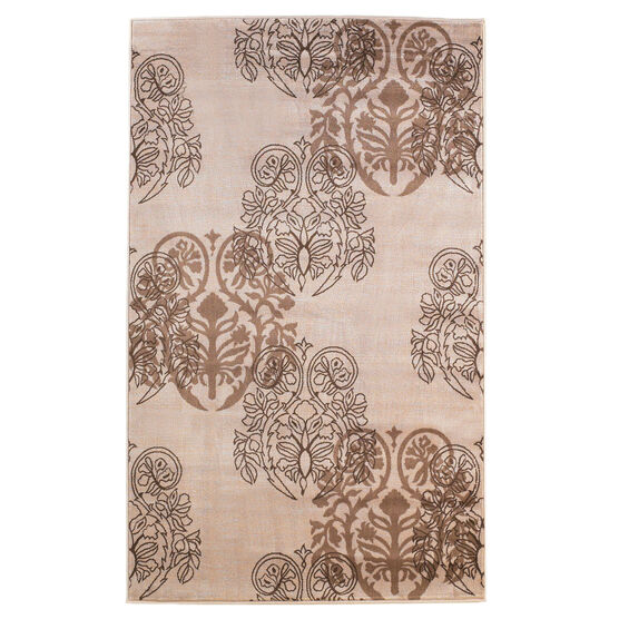 Milan Ivory/Brown 8'X10' Area Rug, IVORY BROWN