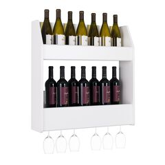 2-Tier Floating Wine and Liquor Rack,