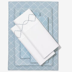 Nolita 6-Pc. Microfiber Sheet Set, SPA BLUE TRELLIS