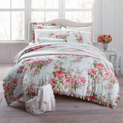 Brianna Cabbage Rose Comforter, FLORAL MULTI