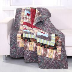 Greenland Home Fashions Colorado Lodge Quilted Patchwork Throw Blanket,
