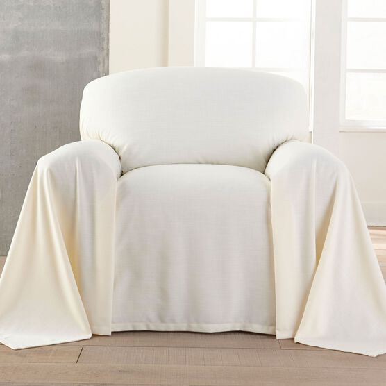 Dani Dropcloth-Style Chair Cover ,