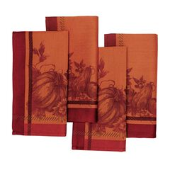Harvest Border Napkins, Set of 4,