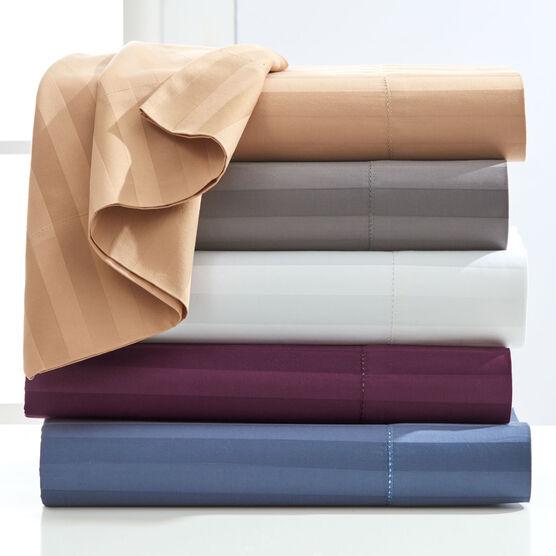 500-TC. Cotton 4-Pc. Striped Sheet Set ,