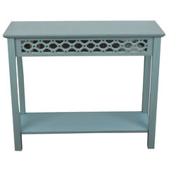 Mirrored Console Table, ANTIQUE BLUE