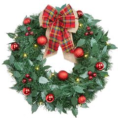 18' Cordless LED Christmas Wreath,