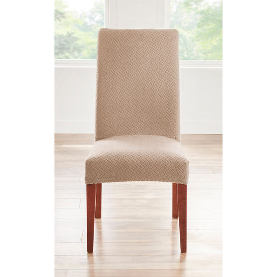 BH STUDIO BASKETWEAVE STRETCH Dining Room Chair SLIPCOVER,