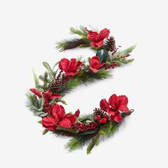 Amaryllis 6' Garland, RED