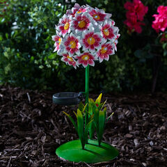 Solar 3-D Flower Decoration,