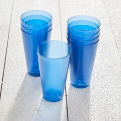 8-Pc. Blue Plastic Drinkware Set,