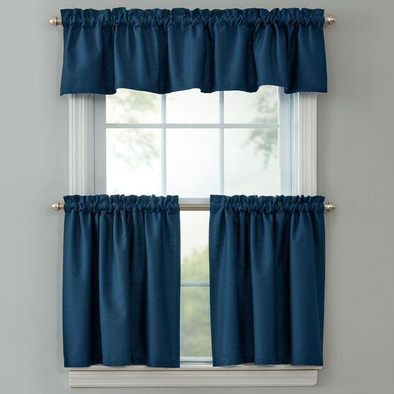 BH Studio Cotton Canvas Tier Set with Valance,