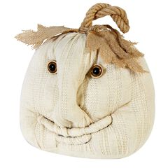 Plush Ivory Pumpkin ,