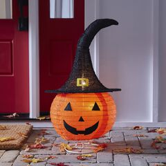 "24"" Pre-Lit Pop-Up Pumpkin,"