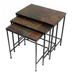 3-Pc. Slate Nesting Tables,