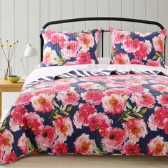 Peony Posy Navy Quilt Set by Barefoot Bungalow,
