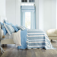 Florence Oversized Bedspread, BLUE STRIPE