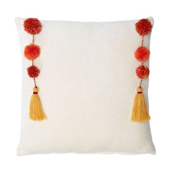 Nisha Suzani Square Pillow, IVORY