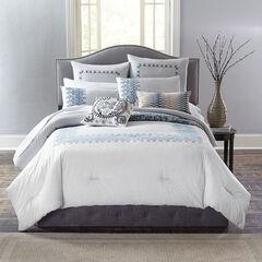 Margot Puff Printed Comforter, GRAY NAVY
