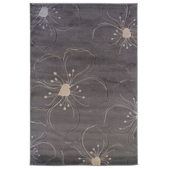 Milan Grey 2'X3' Area Rug,