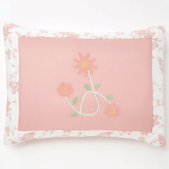Emma Embroidered Sham, BLUSH