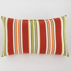 "20"" x 13"" Lumbar Pillow, CHERRY BAJA STRIPE"