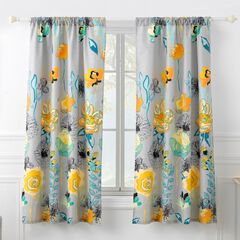 Greenland Home Fashions Watercolor Dream Curtain Panel Set,