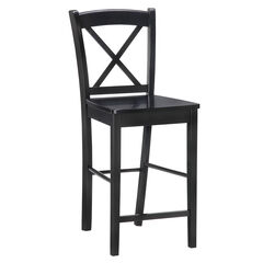 Black X Back Stool, BLACK