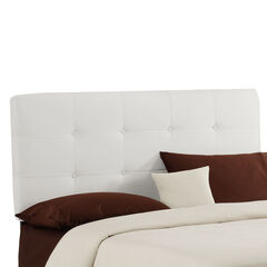 """Queen Size, 62""""Lx4""""Wx51-54""""H, WHITE"""