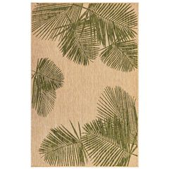 "Liora Manne Carmel Palm Indoor/Outdoor Rug 23""X7'6"","