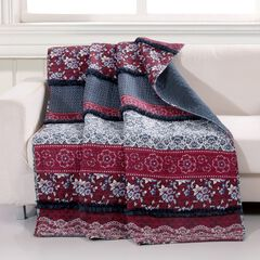 Barefoot Bungalow Monroe Quilted Throw Blanket, MULTI