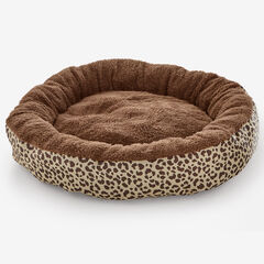 Leopard Print Round Pet Bed,