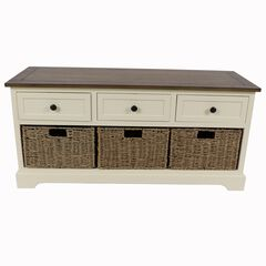 Montgomery Bench White and British Brown ,