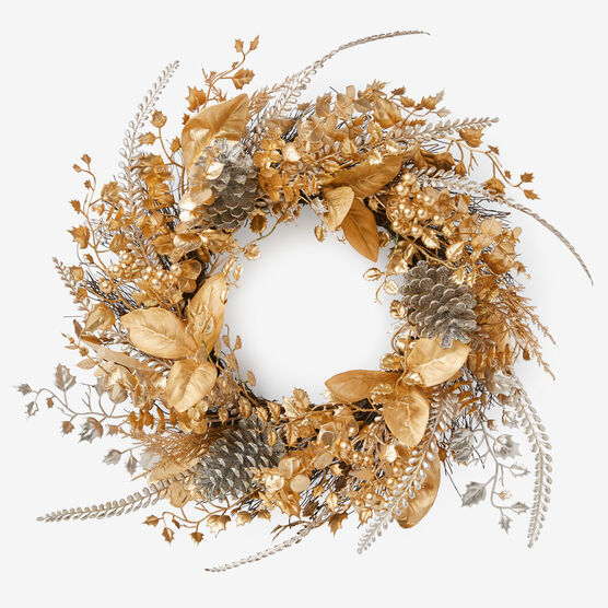 Gold & Silver Wreath, GOLD SILVER