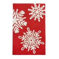 Small Rectangular Snowflake Mat,