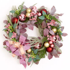 Blush Christmas Wreath,