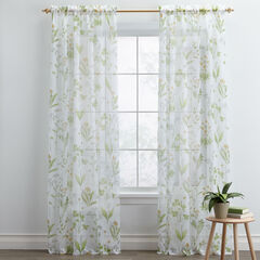 BrylaneHome® Studio Meadow Printed Voile Rod-Pocket Panels,