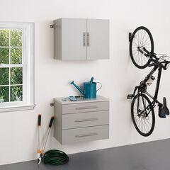 "HangUps 30"" Storage Cabinet Set A - 2pc, Light Gray,"