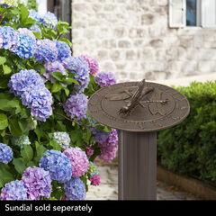 Aluminum Roman Sundial Pedestal, FRENCH BRONZE