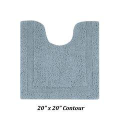 """Lux Collections Bath Mat Rug 20"""" X 20"""" Contour,"""