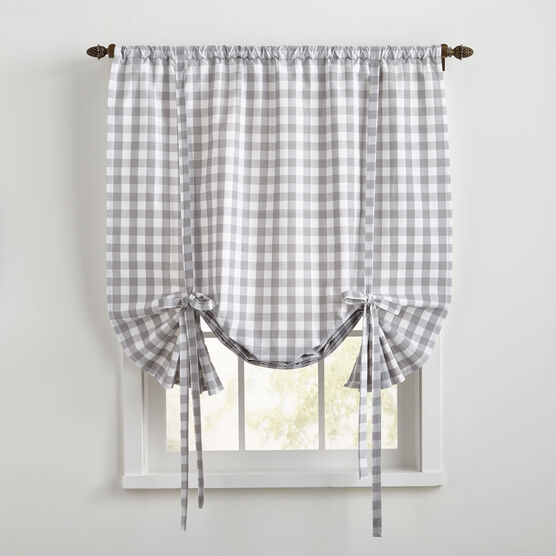 Buffalo Check Tie-Up Window Shade,