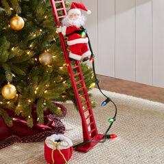 Animated Musical Climbing Santa ,
