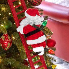 animated musical climbing santa