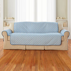 Striped Sofa Protector, BLUE