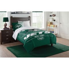 TWIN COMFORTER SET DRAFT-JETS,