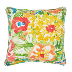 "16"" Sq. Toss Pillow, POPPY GREEN"