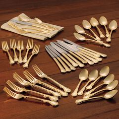 61-Pc. Gold Flatware Set,