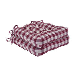 Buffalo Check Tufted Chair Seat Cushions Set of Two,