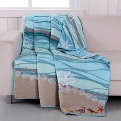 Greenland Home Fashions Maui Quilted Throw Blanket,