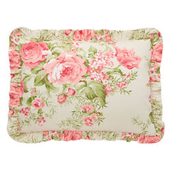 Brianna Cabbage Rose Sham, TAUPE FLORAL MULTI