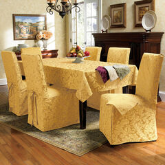 9-Pc. Square Damask Table Linen Set, GOLD